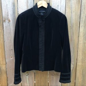 Saks | Velvet Formal Cropped Jacket Size 8